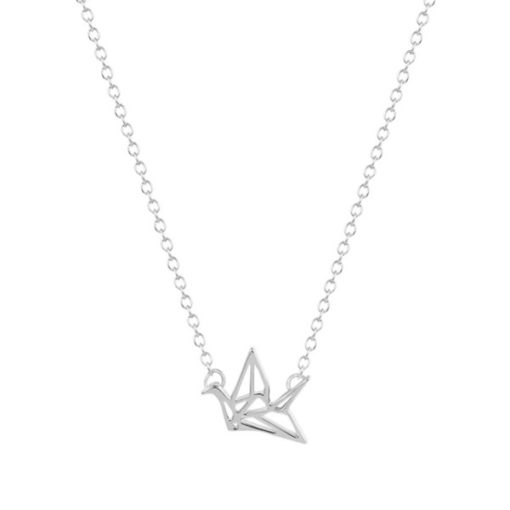 Collier Origami argenté