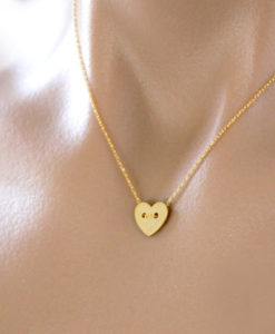collier coeur pas cher