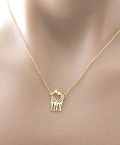 collier giraffe- bijoux giraffe