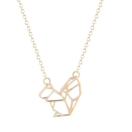 Collier écureuil dore bijoux plaqué or