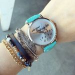 Montre tendance who cares im late bleu
