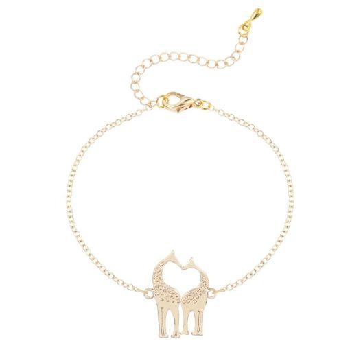 bracelet giraffe doré