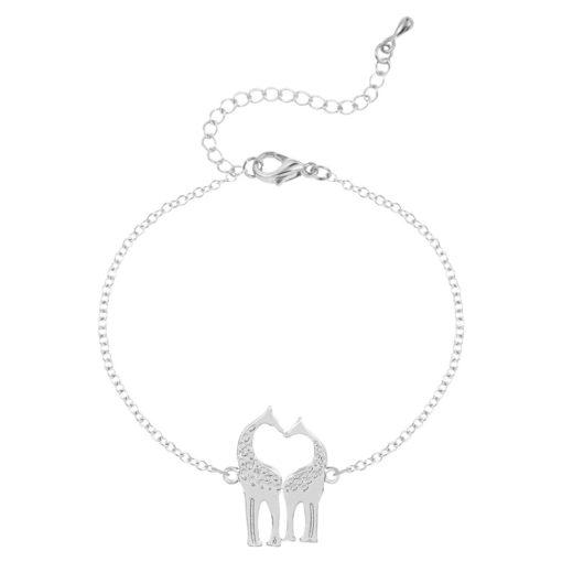 bracelet giraffe argenté