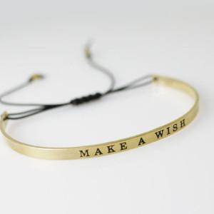 Bracelet porte bonheur manchette make a wish bijoux fantaisie pas cher - Bijoux porte bonheur pour femme ...