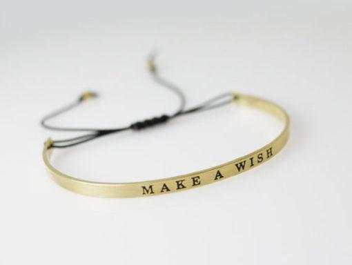 bracelet porte bonheur doré
