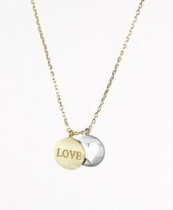collier porte-bonheur doree, collier plaqué or chaine: 45cm pendentif plaqué or: 12 x 16 mm