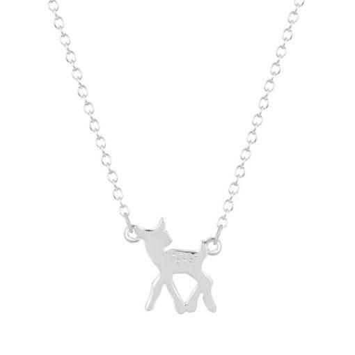 collier bambi argente biche