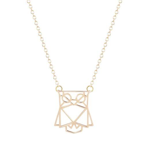 collier hiboux doré bijoux plaqué or