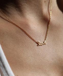 collier love dore bijoux amour
