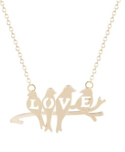 collier origami doré bijoux plaqué or