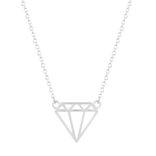 collier diamant argent -Bijoux créateur