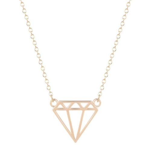 collier diamant doré