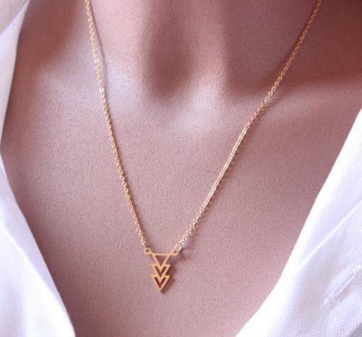 collier flêche doré - Bijoux créateur