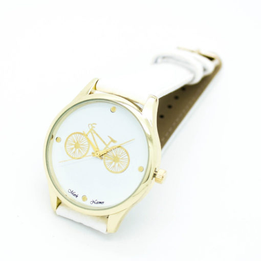 montre bicyclette blanche