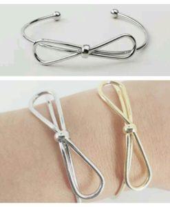 Bracelet noeud argent tendance 2017. Bracelet noeud createurs. ijoux fantaisie de createur