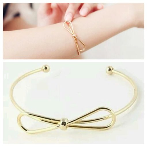 Bracelet noeud doré. Bijoux de createurs tendance 2016