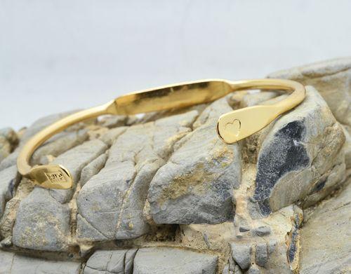 bracelet love jonc manchette or