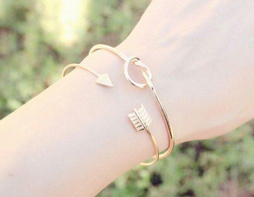Bracelet noeud or tendance 2017