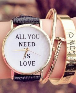 Montre all you need is love noire