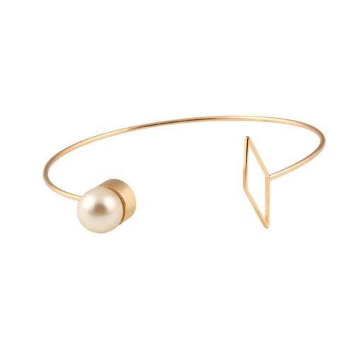 Bracelet jonc Géometrique or