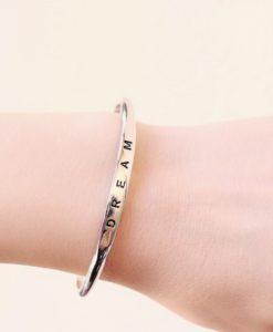 Bracelet jonc dream argent