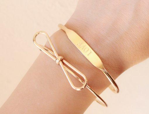 Bracelet porte bonheur or 2017