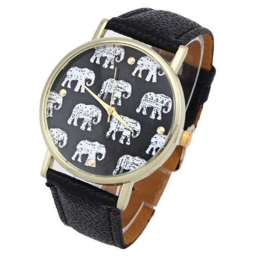 Montre éléphant noire