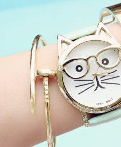 Montre chat lunettes 2017