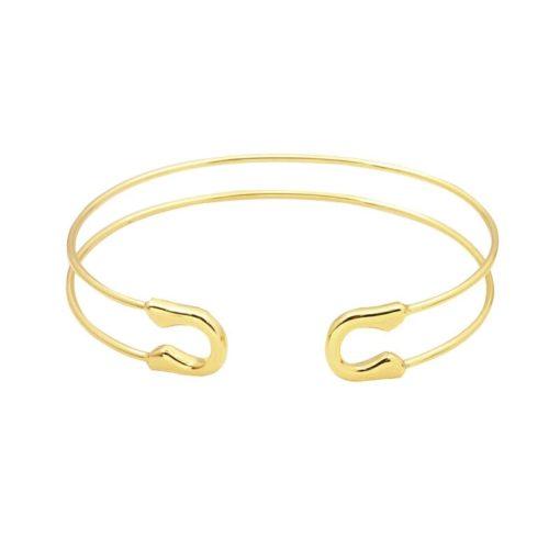 Bracelet épingle or.Idees cadeaux bijoux femme. Bijoux tendance 2017. Bracelet tendance 2017
