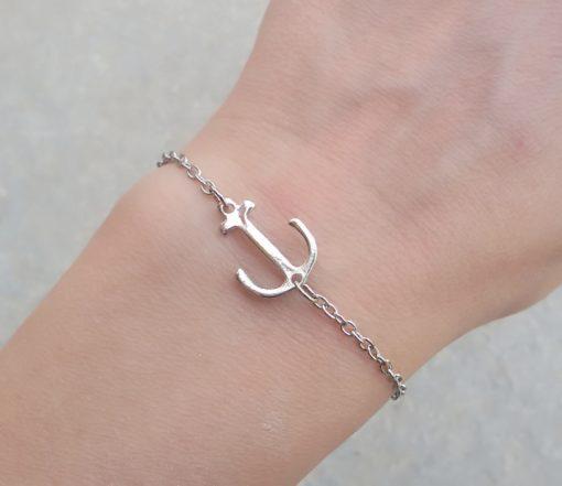 bracelet ancre argent 2018.Idees cadeaux bijoux femme. Bijoux tendance 2017. Bracelet tendance 2017