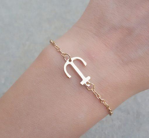 bracelet ancre or 2018.Idees cadeaux bijoux femme. Bijoux tendance 2017. Bracelet tendance 2017