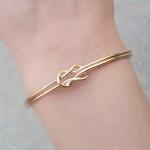 bracelet double noeud or