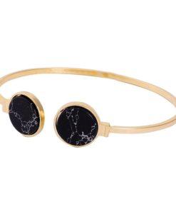 Bracelet jonc marbre noir 2018