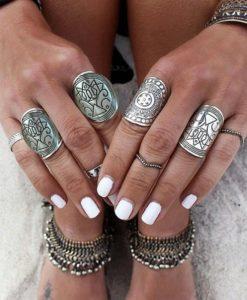 bijoux ethnique argenté