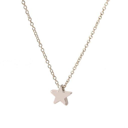 collier étoile argent. Collier tendance 2018