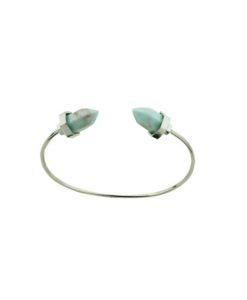 Bracelet Géométrique argenté turquoise