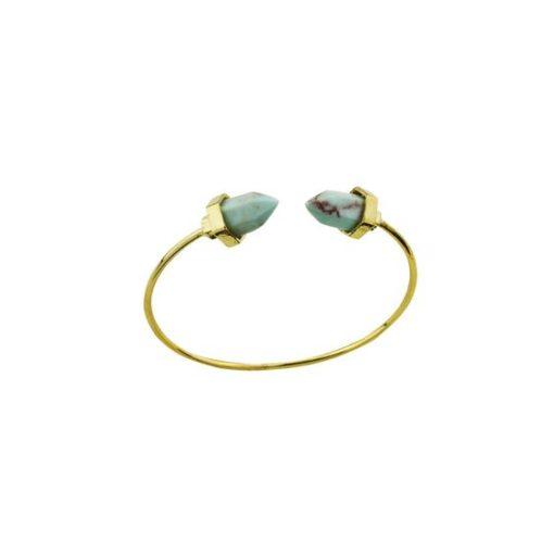 Bracelet Géométrique doré turquoise