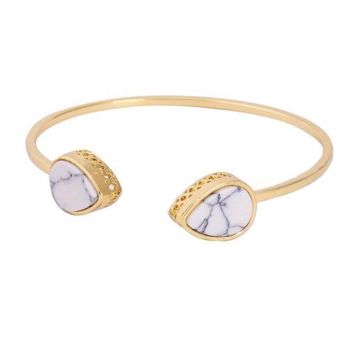 Bracelet géométrique marbre