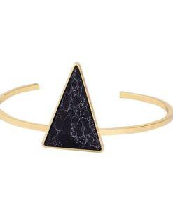 Bracelet géométrique triangle noir