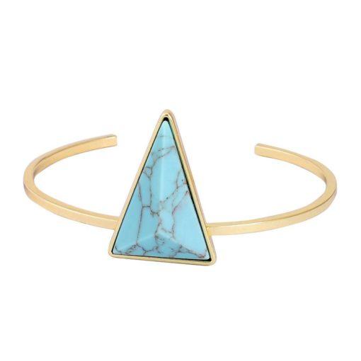 Bracelet géométrique triangle turquoise