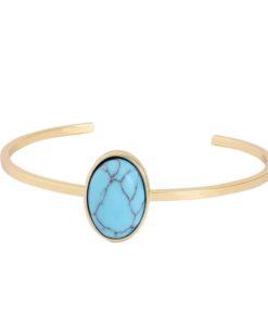 Bracelet géométrique turquoise Anne