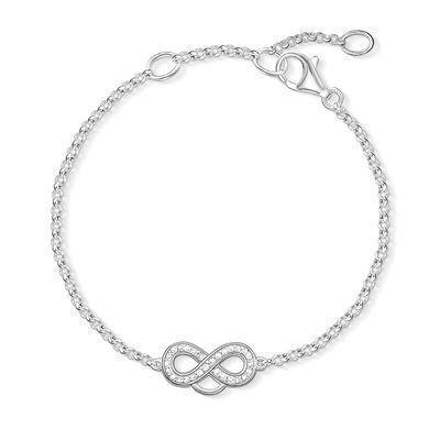 Bracelet infini argent swarovski