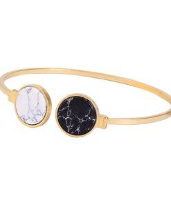Bracelet jonc blanc et noir 2018