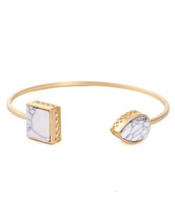 Bracelet jonc géométrique marbre