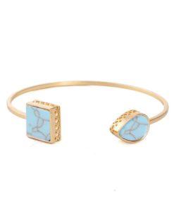 Bracelet jonc géométrique turquoise