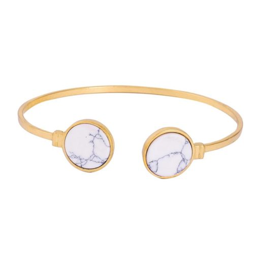 Bracelet jonc marbre blanc 2018