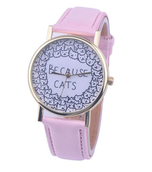 "Montre ""because cats"" rose"