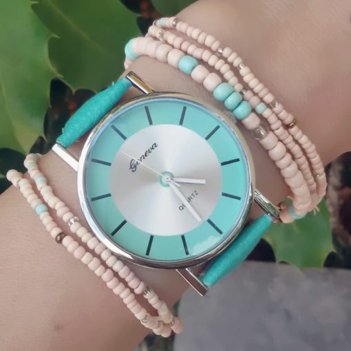 Montre Femme Cuir turquoise 2018