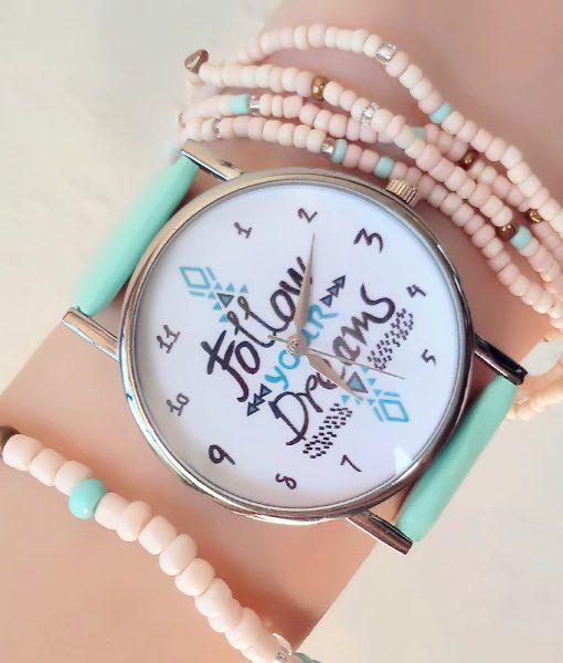 Montre porte bonheur follow dreams bijoux fantaisie pas cher - Bijoux porte bonheur pour femme ...