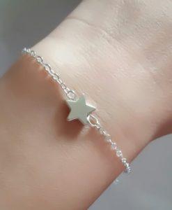 Bracelet étoile argent